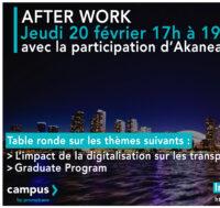 Afterwork – Jeudi 20 février de 17h à 19h